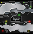 tech electric board template vector image vector image