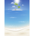 Tropical island in the sea vector image