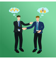 two business man handshake success deal concept vector image vector image