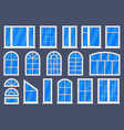 white windows plastic home or office windows vector image