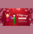 woman holding gift box present for girl friend vector image vector image