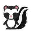 woodland zorrillo animal character cute icon vector image vector image
