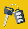 Car Key and charm of the alarm system vector image