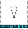 Lamp icon flat vector image