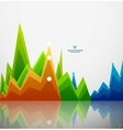 Colorful graphs background vector image