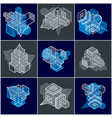 3d designs set of abstract shapes vector image vector image