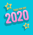 3d text happy new year 2020 vector image vector image