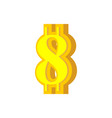 8 numeral bitcoin font eight numeric crypto vector image vector image