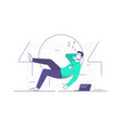 a relaxed it technician vector image vector image