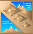 abstract egiptian pyramids background vector image