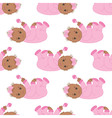 African American Baby Girl Seamless Pattern vector image
