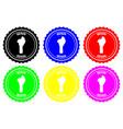 benin rubber stamp vector image vector image