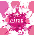 breast cancer awareness month pink ribbon symbol vector image