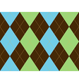 Brown green argyle seamless pattern vector image vector image