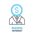 business interest concept outline icon linear vector image vector image