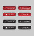 button set download and upload vector image vector image