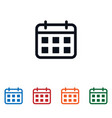 calendar icon isolated on white background vector image vector image