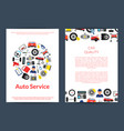 card flyer or brochure template for auto vector image vector image