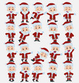 cartoon character santa claus set with different vector image vector image