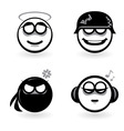 cartoon emotion icons vector image vector image