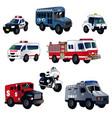 cartoon law enforcement cars vector image