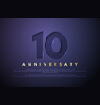 celebrating 10th anniversary logo vector image