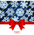 christmas invitation card and menu with bow vector image