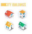 city buildings - modern colorful isometric vector image