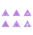 colorful polygonal ornate mosaic triangle pyramid vector image vector image