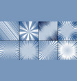 comic square banners composition vector image