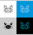 crab thin linear simple icon top view silhouette vector image