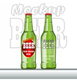Digital glass of beer mockup vector image vector image