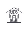 family house line icon concept family house vector image vector image