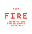 fire font alphabet vector image
