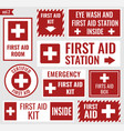 first aid stickers vector image vector image