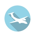 Flat Design Concept Plane With Long Shadow vector image vector image