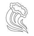 Foamy splash icon outline style vector image vector image