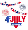 fourth of july independence united stated flag fir vector image