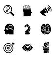 gear mind icon set simple style vector image
