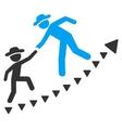 Gentlemen Education Growth Flat Symbol vector image vector image