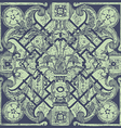 hand drawn floral pattern tile background vector image vector image
