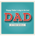 Happy fathers day card vector | Price: 1 Credit (USD $1)