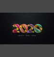 happy new 2020 year vector image vector image