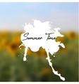 headline with splash on sunflowers background vector image