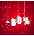 Holiday winter sale discount banner Hanging 3d vector image vector image