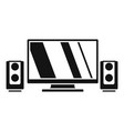 home cinema system icon simple style vector image