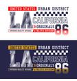 la california t-shirt print typography design vector image vector image
