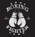 label with boxing gloves vector image vector image