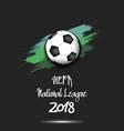 logo soccer tournament 2018 vector image