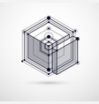 mechanical scheme black and white engineering vector image vector image